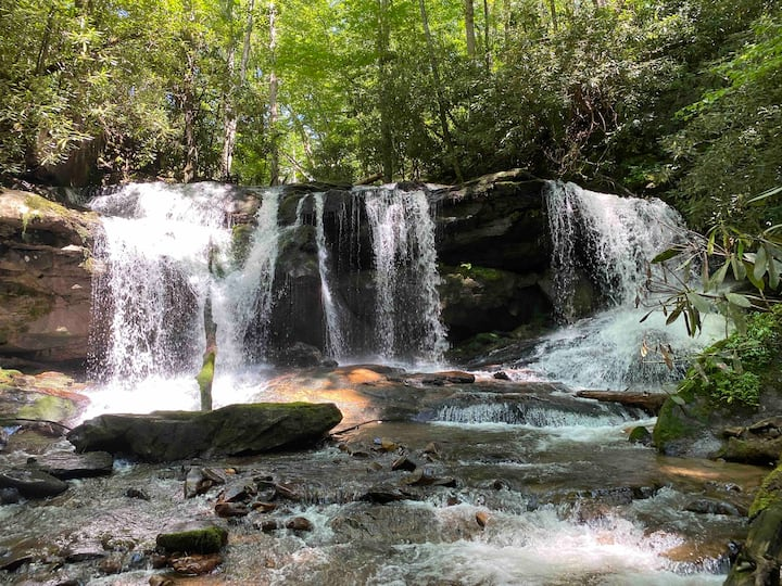 Private Waterfall 1 site Campground Cherokee NC