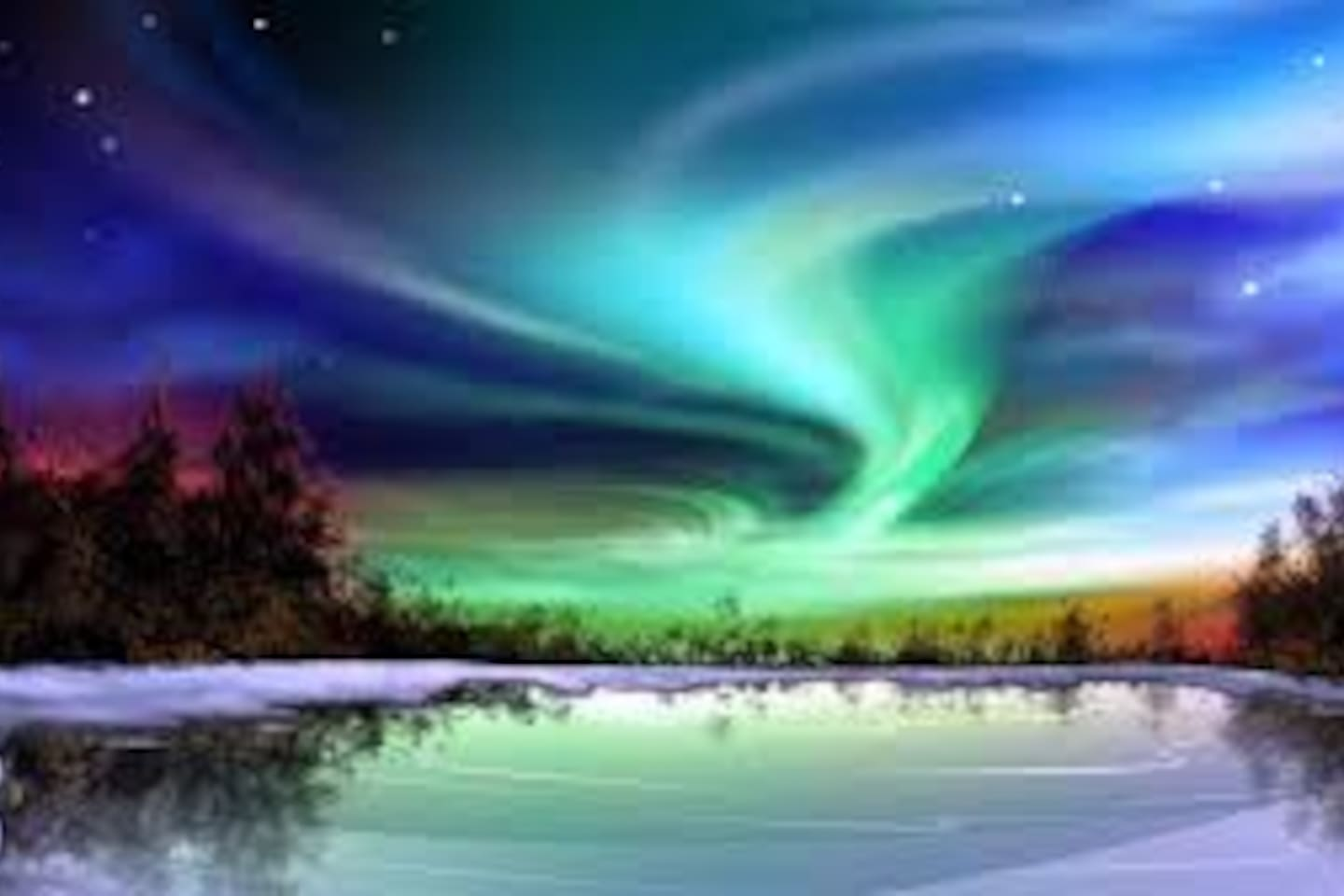 NORTHERN LIGHTS, pic # 2, usually visible in Oulu during winter months.  # 16