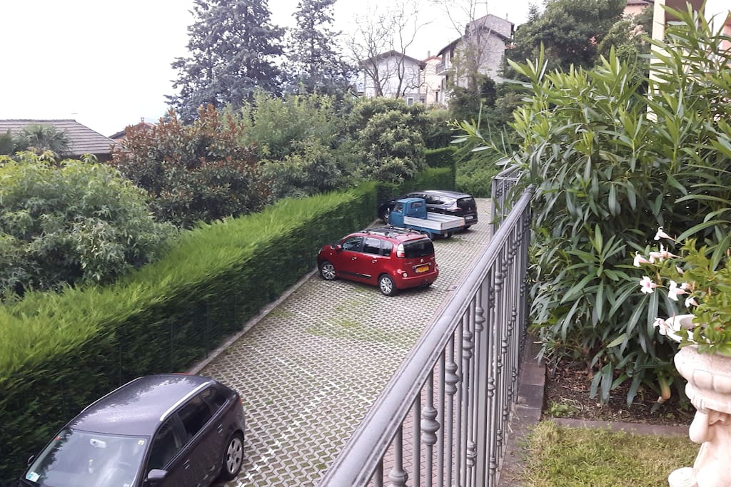 Free and spacious parking right outside the residence.