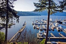 We have our own 200 foot dock! Feel free to sip your morning coffee, drop a crab trap, enjoy the sun set, and/or watch the Butchart Gardens Saturday night fireworks (through the summer months) all from the dock!