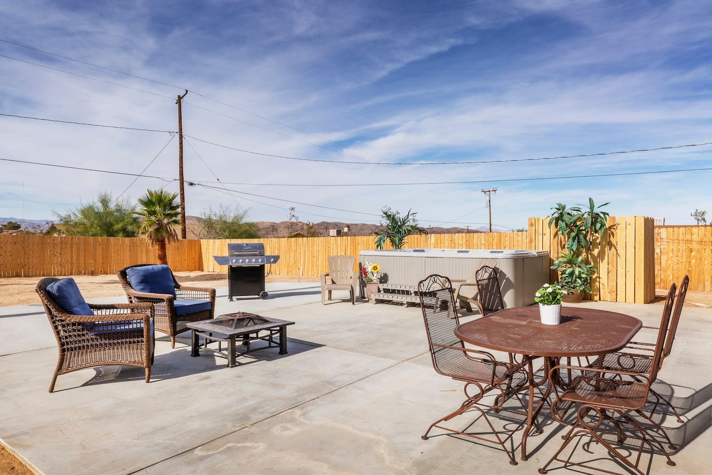 Relax by the fire pit while you cook on the barbecue. Or just unwind in your private hot tub and reconnect with nature.