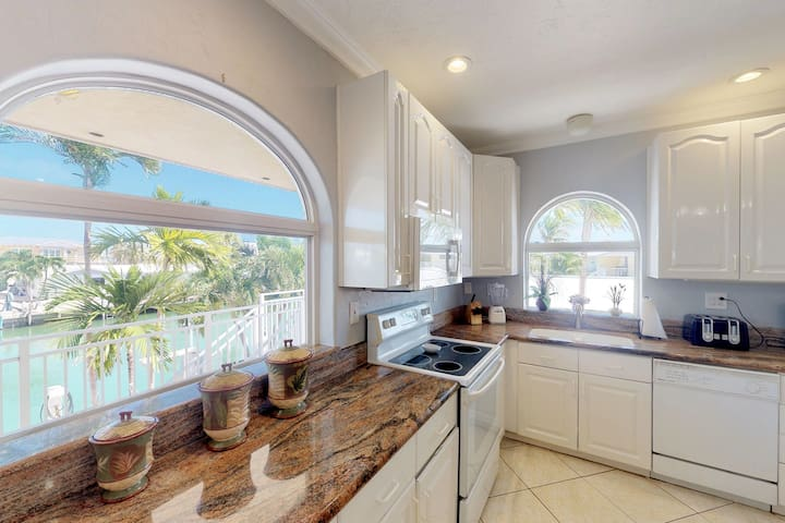 Waterfront home w/ shared pool, hot tub, 35 ft dock, & Cabana Club access!