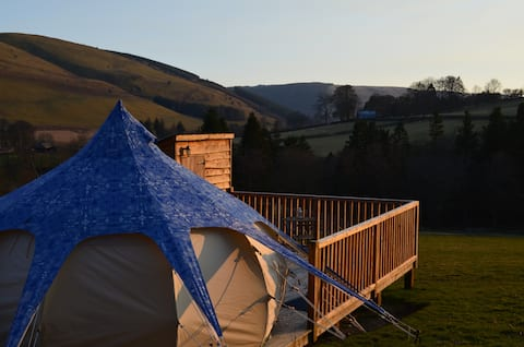 Nant y Neuadd Belle tent at Welsh Glamping