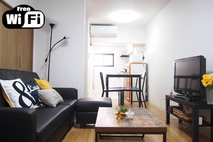 One stop from JR OSAKA station!  7 beds House !