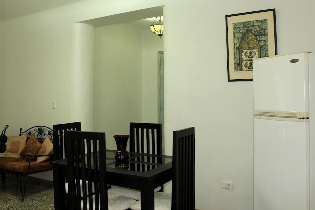 Other view of the living and dining room