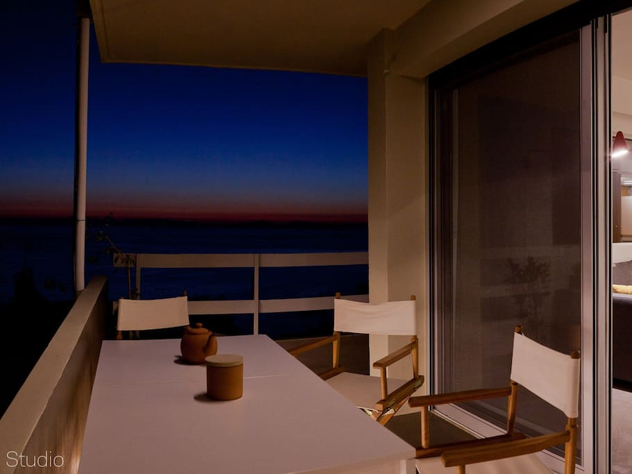 Balcony evening time