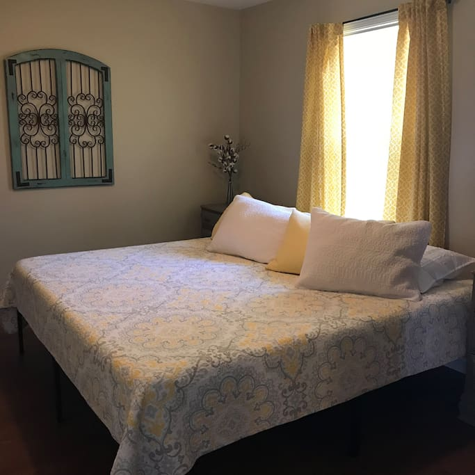 Master bedroom with private bath.