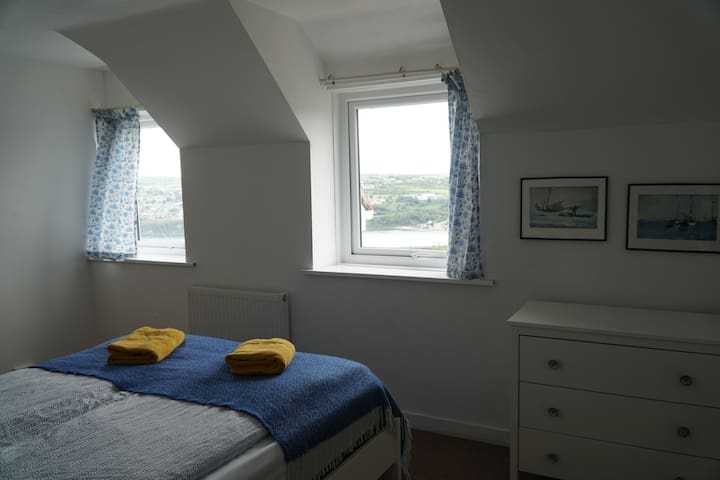 Double bed at front of the house