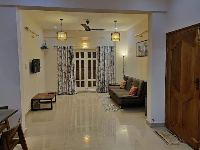 2BHK FOR 6 withAC-WIFI-PrivateKitchen-Nr.Manyata!