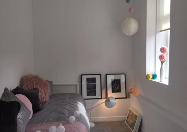 Fresh double room that sleeps two people.