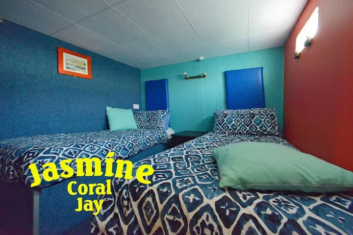 boutique boat twin room on THE JASMINE CORAL JAY