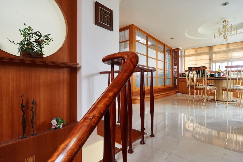 Bright and spacious dining area on the 2nd floor (7th fl  of apt)