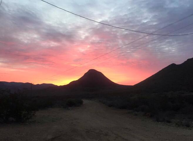 Sunrise over Sombrero Peak