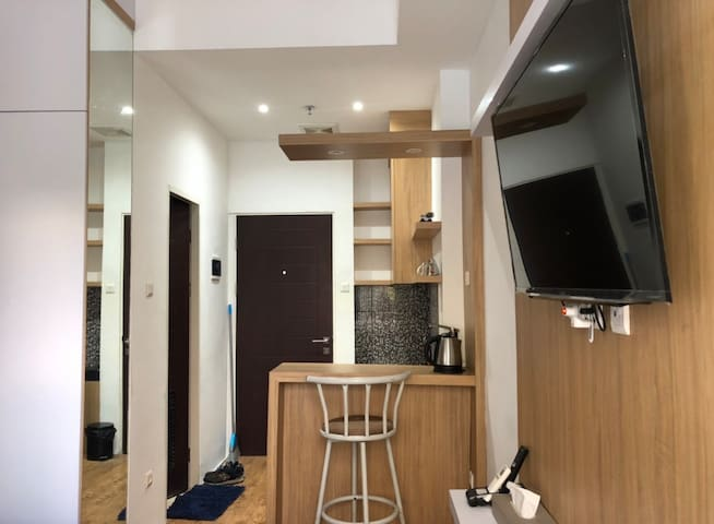 Apartemen unit studio homey