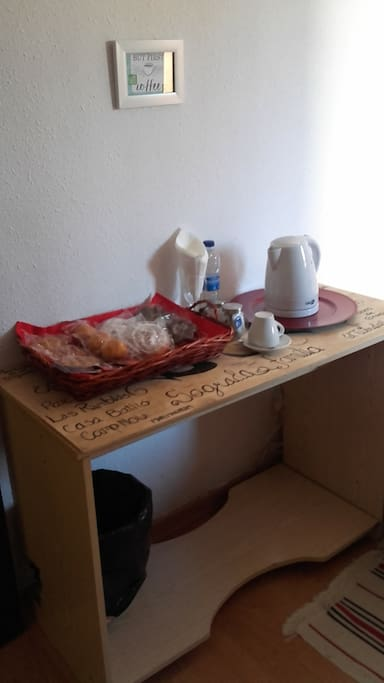Our coffee station has what you need for a good-quick breakfast