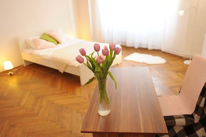 Cozy room in art nouveau house in the center