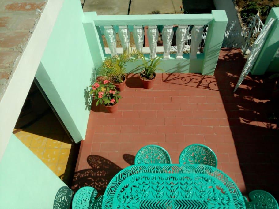Esta es una terraza, muy comada para los desayunos.