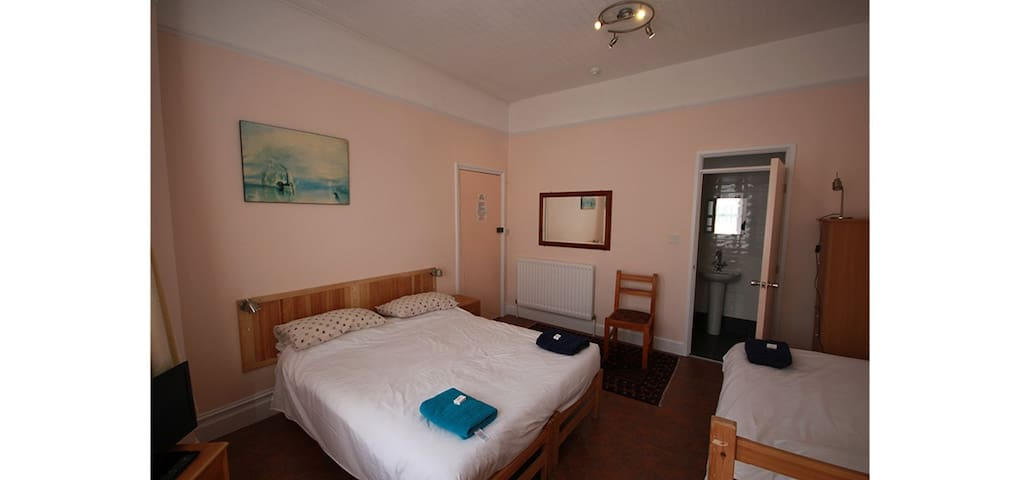 Room in lovely home,  walk to beach
