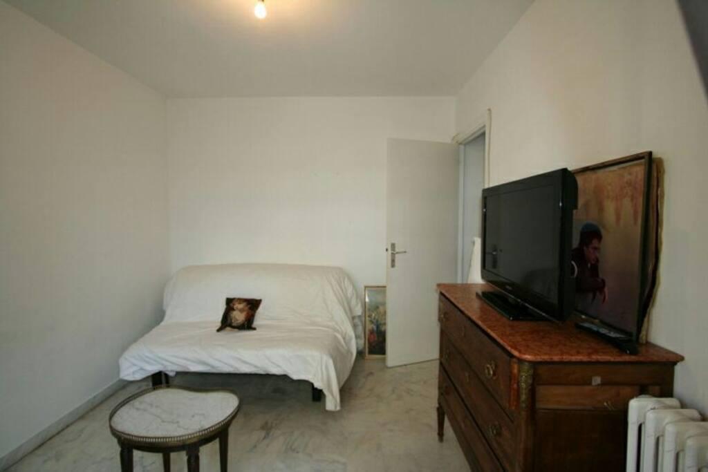 La chambre avec terrasse donnant sur Mariott