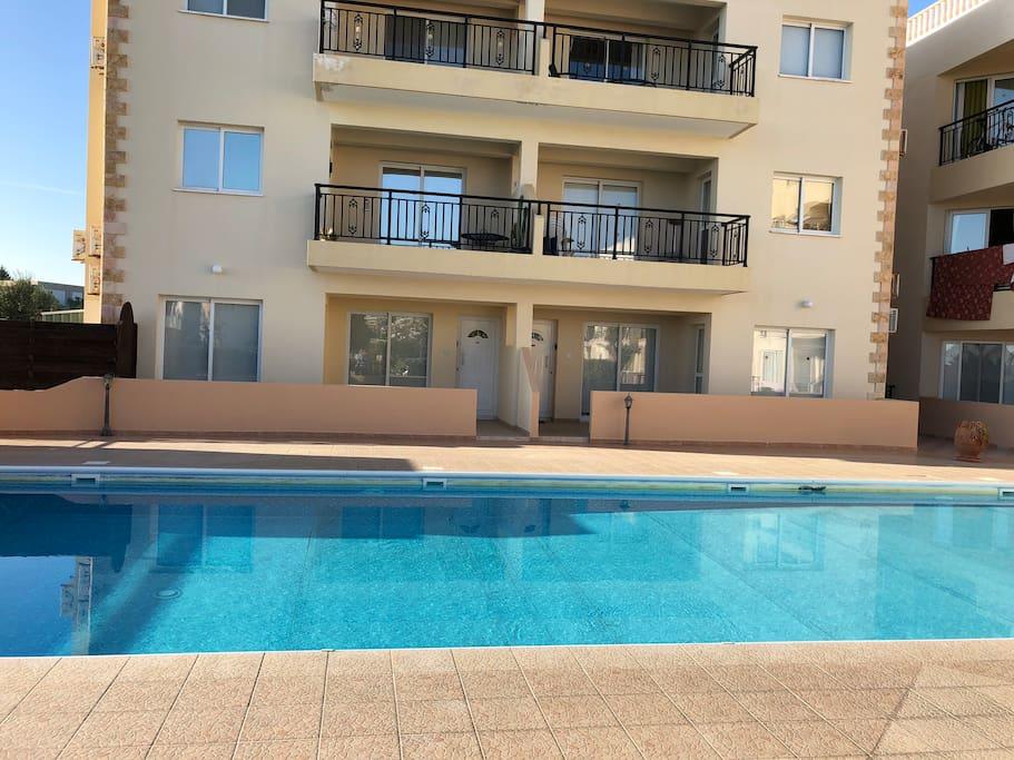 Large communal pool area