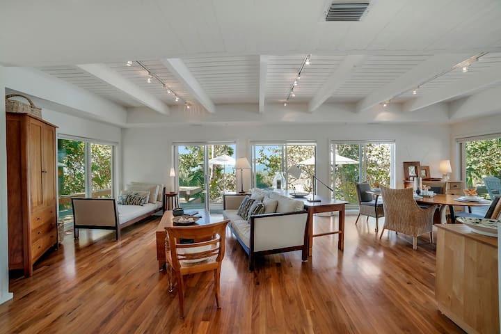 The main house features Cherry floors and expansive Gulf Views