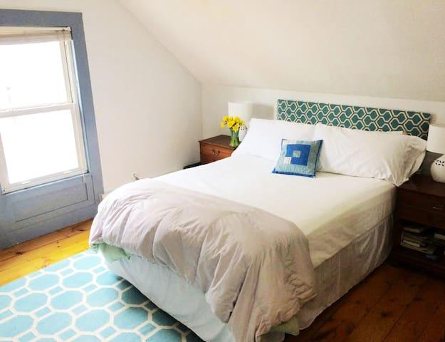 Bedroom one: Queen size bed