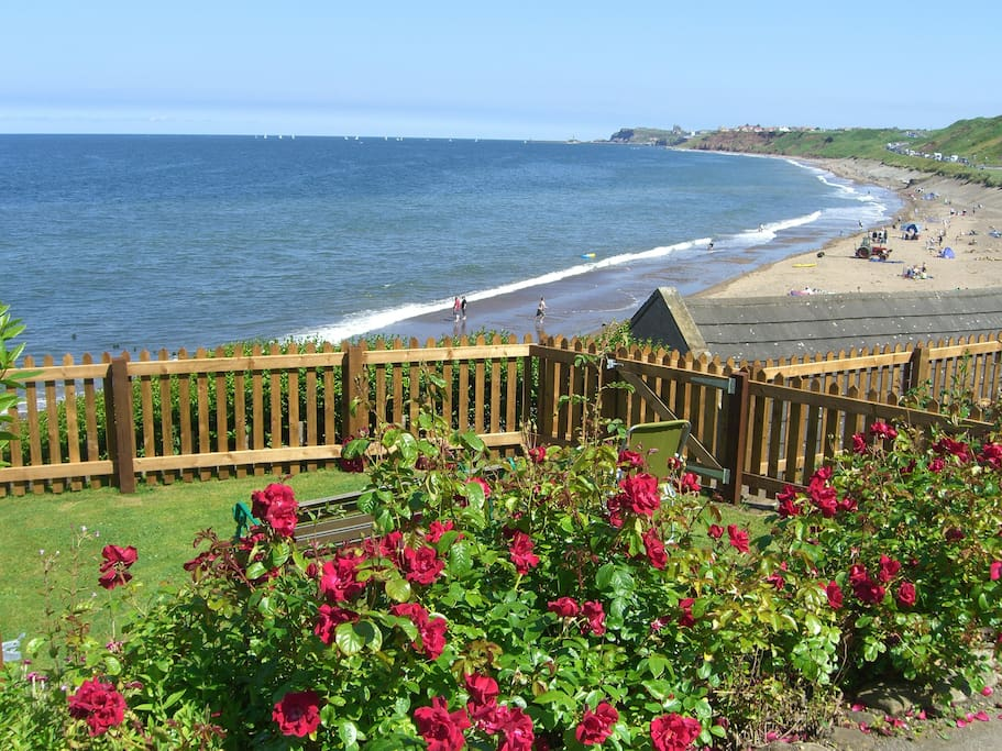 Sunnybank's garden with views to Whitby and the abbey