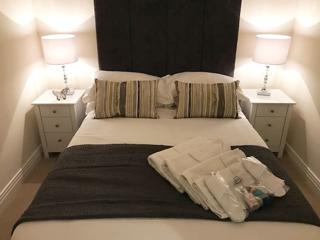 Bedroom with quality linen