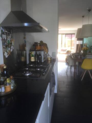 Open kitchen,  with dishwasher