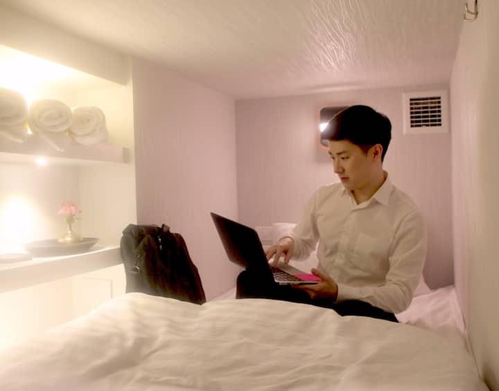 Capsule Hotel @LAF hotel, BTS Ari + Free Breakfast