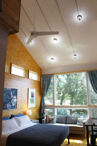 Our stylish space is open, airy yet comfy, and has everything you need for a great stay!