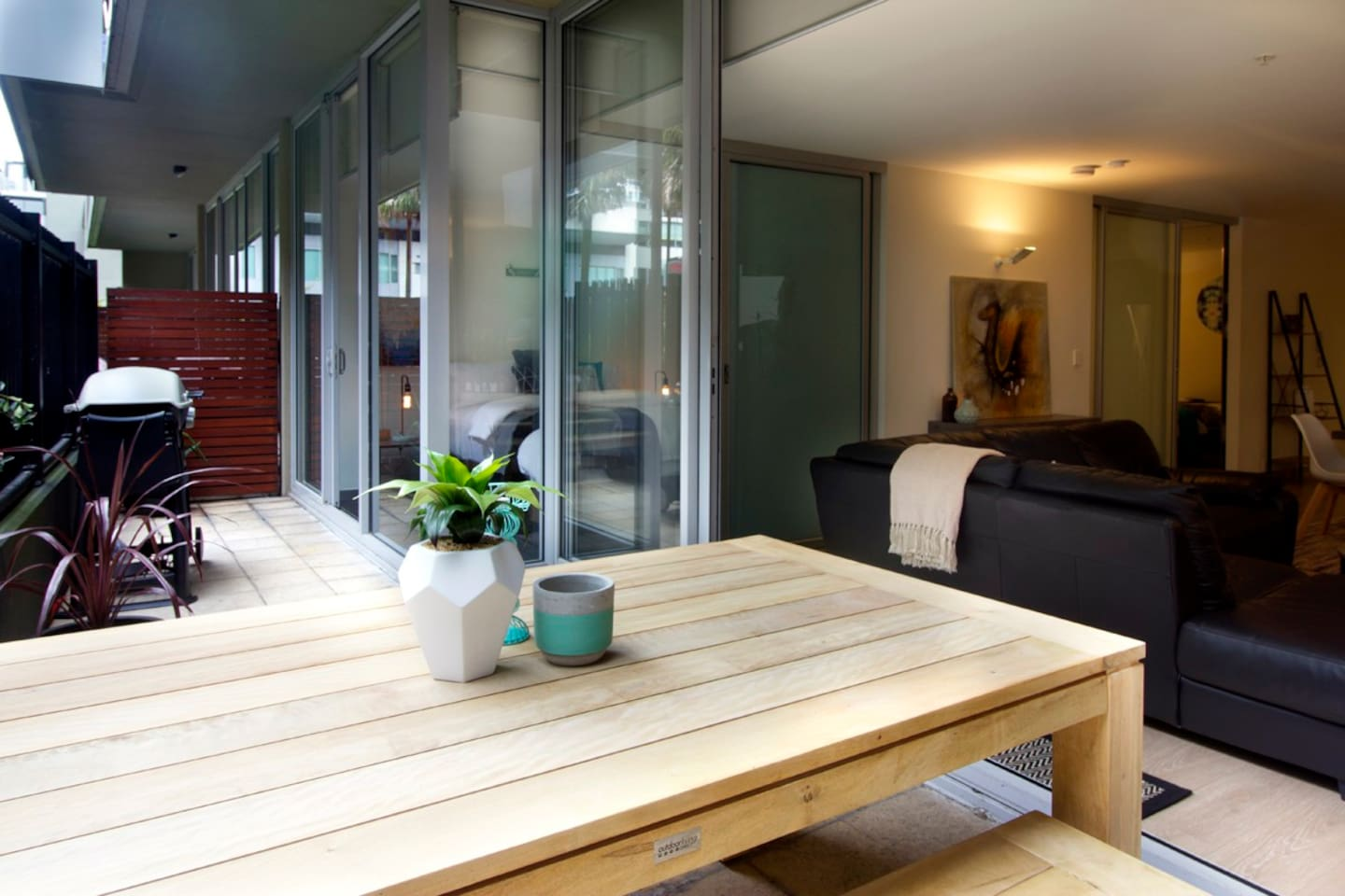 Relaxing deck area with BBQ