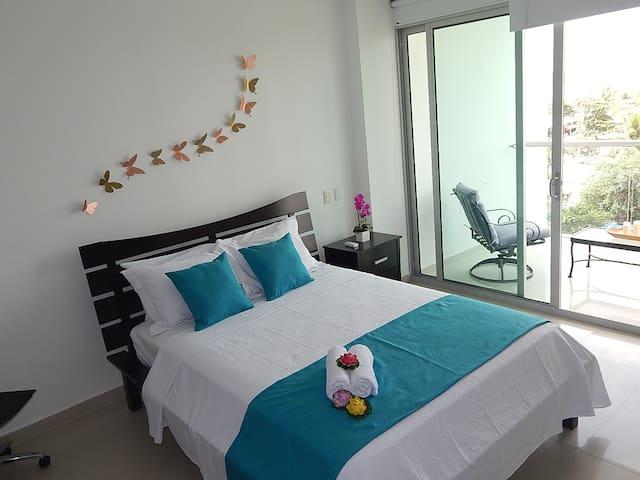 Apartamento Cartagena Morros Vitri, Frente playa