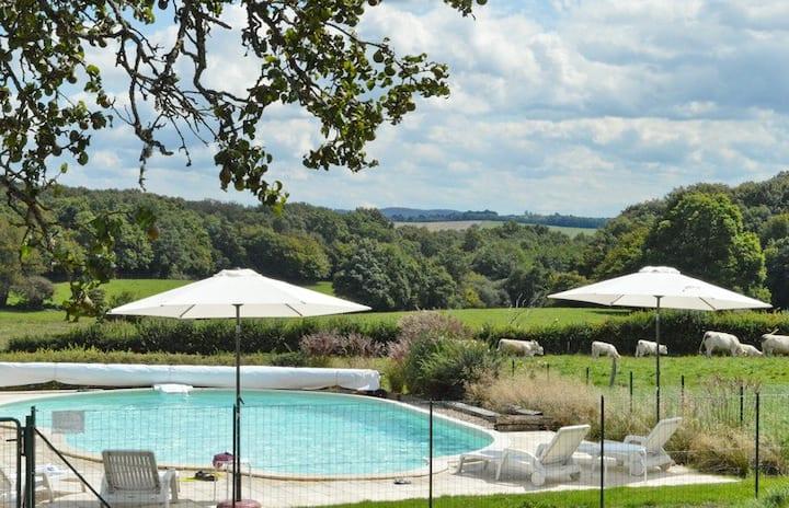 4*gite (Coronaproof) met zwembad in luxe boerderij