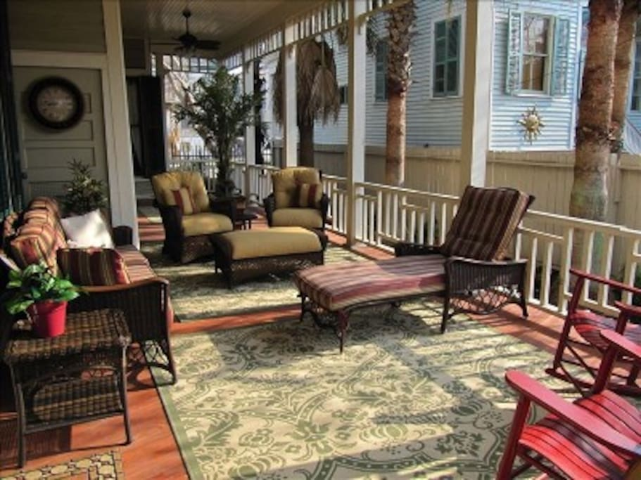 Over 1000 square feet of porches.