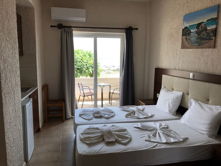 falasarna beach studio sea view  two single beds