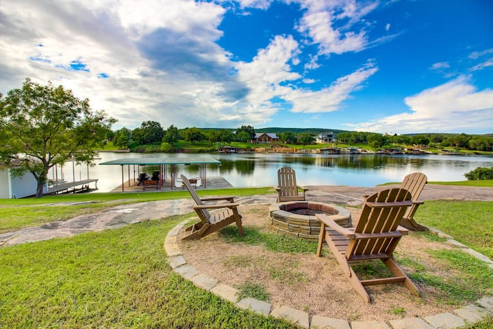 Premium Cleaned | Renovated waterfront home w/ lake views, dock & boat lift - dogs OK!