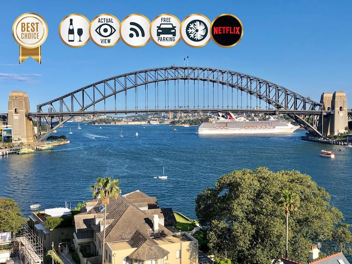 SYDNEY HARBOUR VIEWS APARTMENTS, Free WiFi,🅿️,🥂
