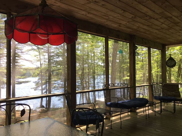 The Gathering Place, Damariscotta Lakefront home in Jefferson, Maine