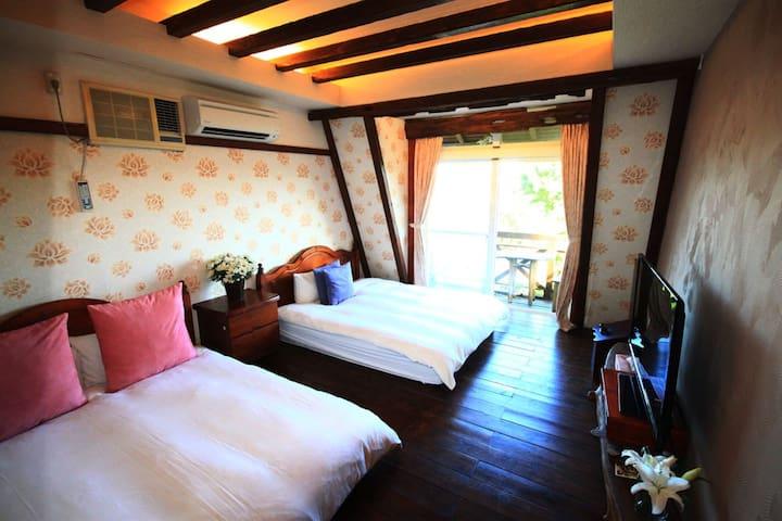 汎水淩山。浪漫2~4人房 - Xincheng Township - Apartment