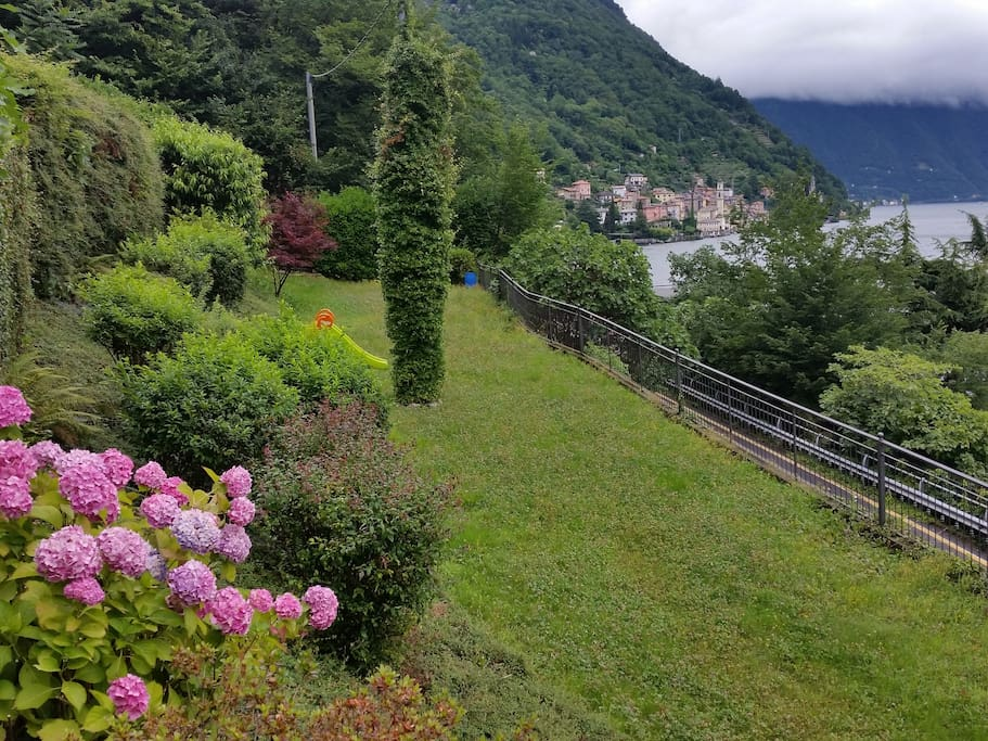 Beautiful garden with view on the Lake and on the Village of Brienno