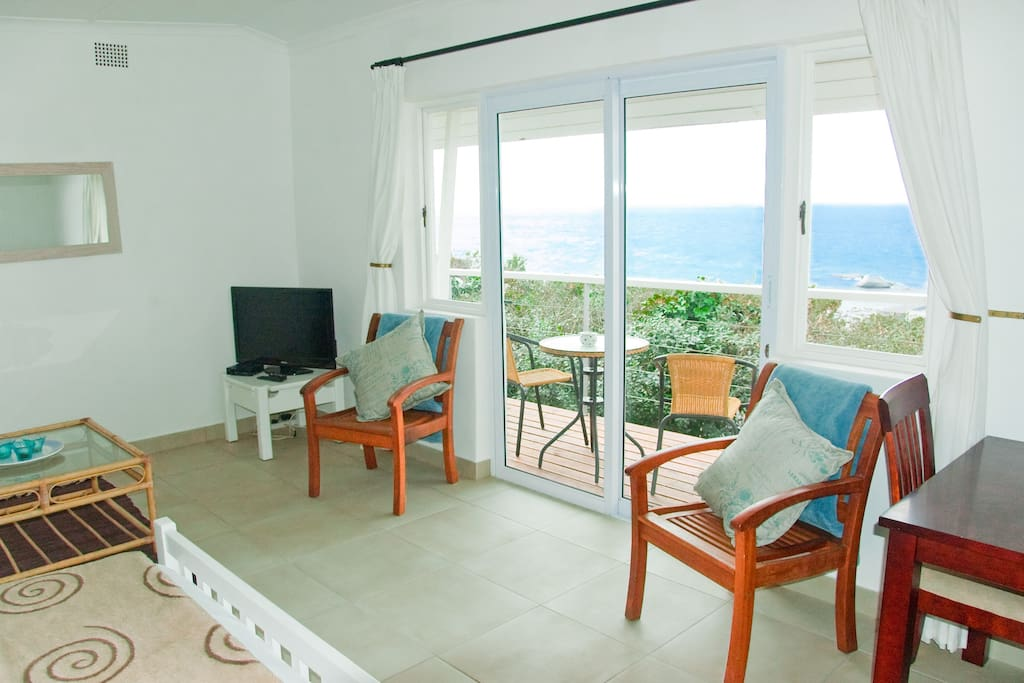 Sea View and Flat Screen TV (sports and movies)
