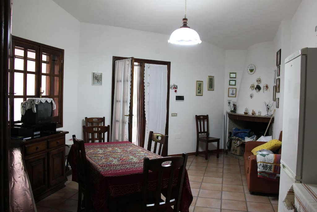 La cucina - soggiorno