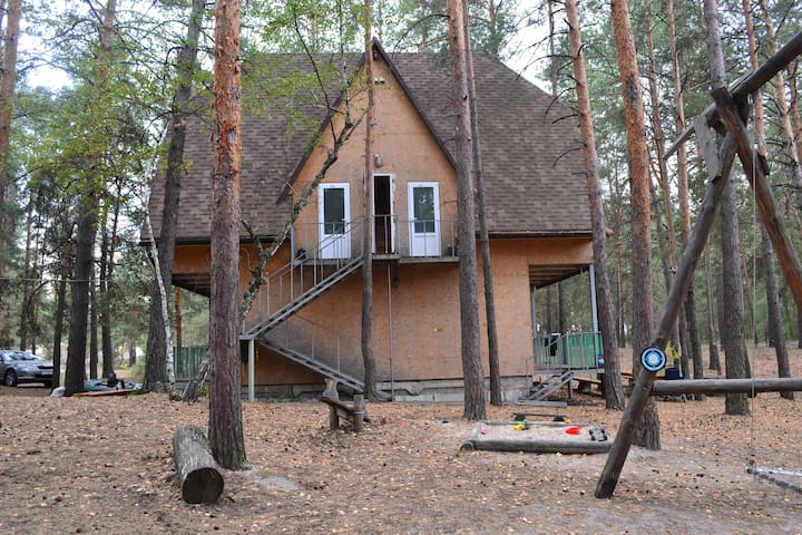 Дом в лесу на берегу водохранилища - Chervonyi Oskil - Bungalow