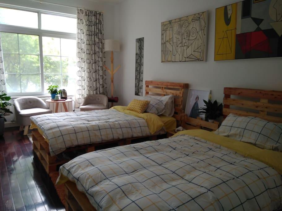 北欧印象派标准房,可以住2人。