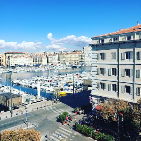 Bel appartement - Vue sur le Vieux Port