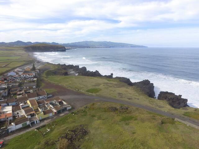 Casa junto ás praias