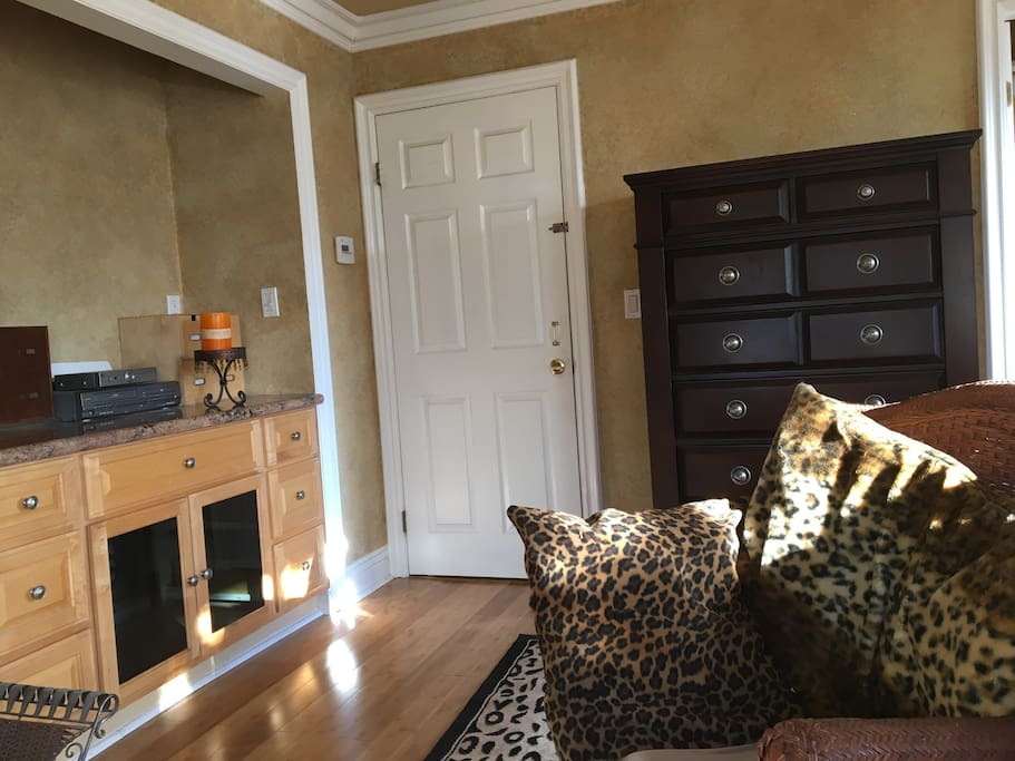 Large dresser and door to room