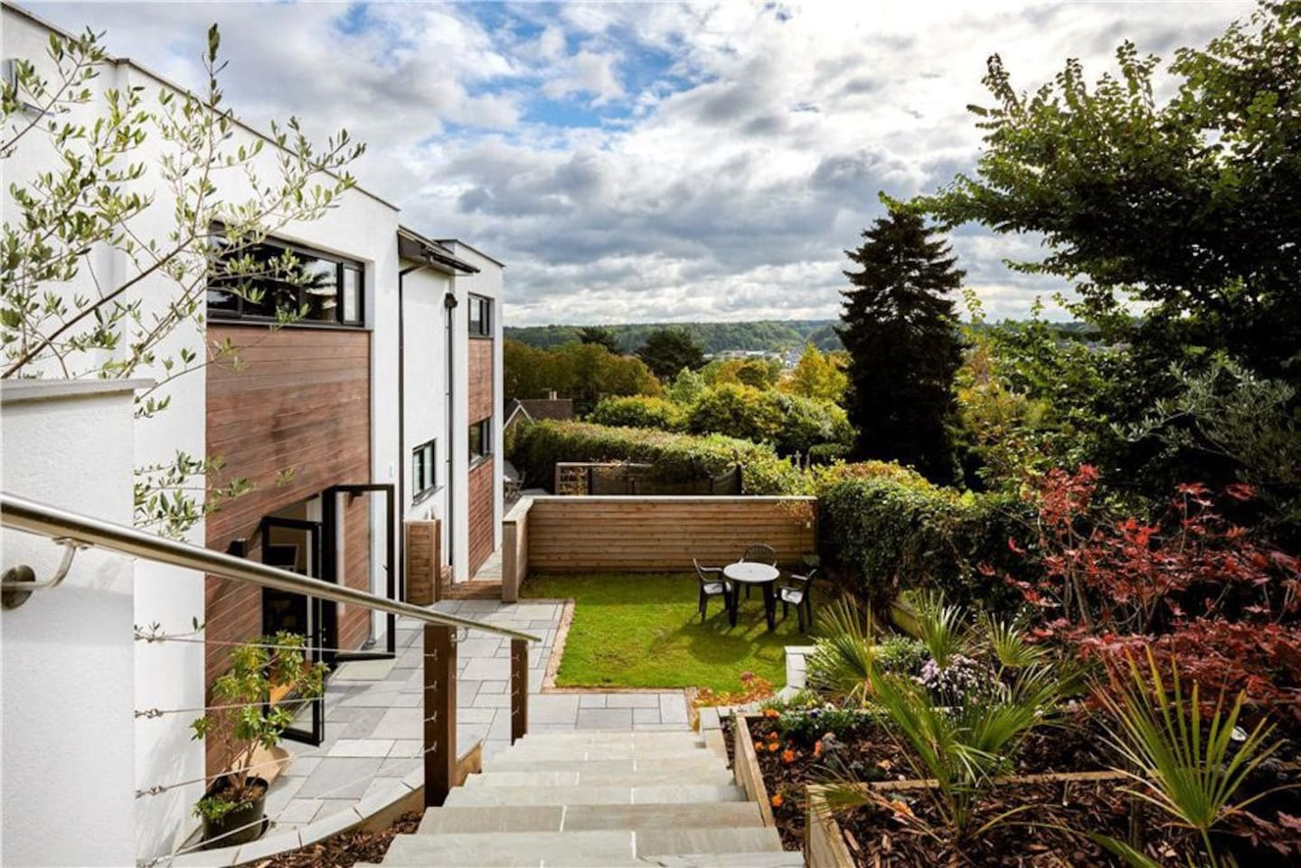Dramatic views over the Surrey Hills from your private garden