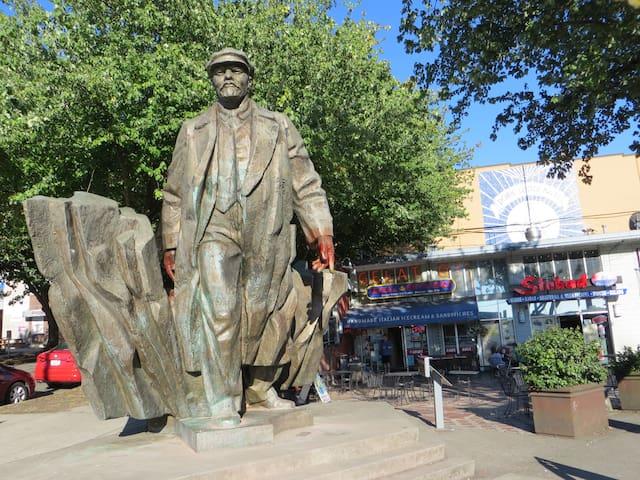 Vladimir Lenin statue.